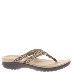 Crocs™ Capri Leopard Print Strappy Flip (Women's)