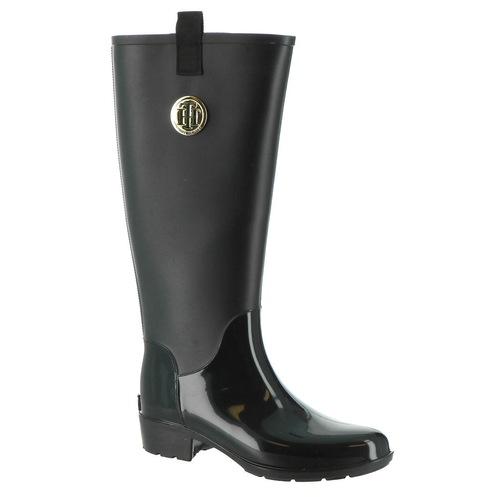 *Water-resistant plastic upper *Knee-high shaft *Pull-on style with side pull tabs for easy on/off *Lightly cushioned footbed *1-1/2\\\
