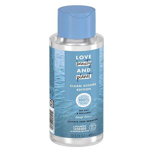 Love Beauty and Planet Sea Salt & Bergamot Deep Detox Shampoo