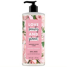 Love Beauty and Planet Murumuru Butter & Rose Body Wash 16-Oz.