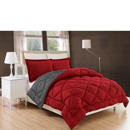Down Alternative Reversible Comforter Set