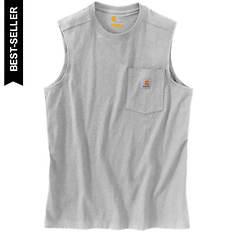 Carhartt Men's Loose Fit Heavyweight Sleeveless Pocket T