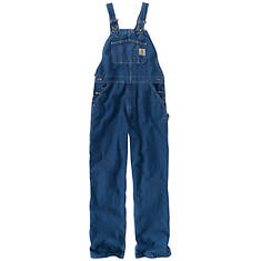 Carhartt Men's Loose Fit Washed Denim Bib Overall