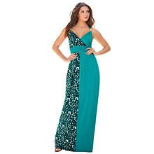 Print Block Maxi Dress