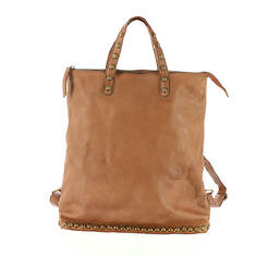 Free People Ellie Leather Studded Tote Bag