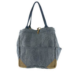 Free People Fremont Mixed Material Shoulder Bag