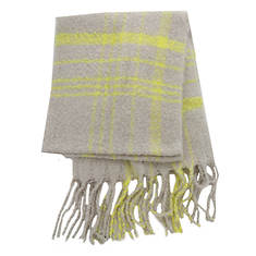 Free People Women's Prep Brushed Plaid Blanket Scarf