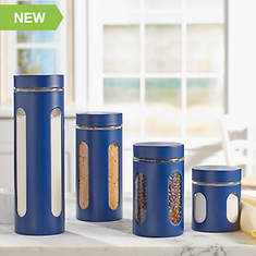 4 Pc Stainless Steel Canister Set