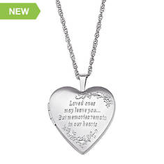 Personalized Sterling Silver Engraved Message Locket Necklace
