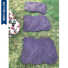 Rubber Stepping Stone 3-pack