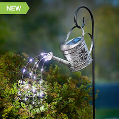 Watering Can Solar Light on Hook