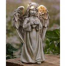Solar-Powered Angel Garden Statue