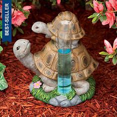Two Stacking Turtles Rain Guage