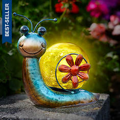 Solar Snail Lighted Decoration