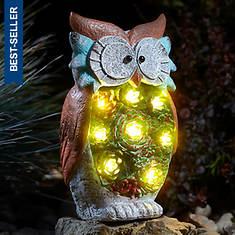 Solar Lighted Owl Garden Statue