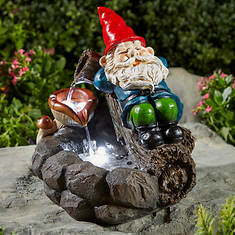 Gnome Garden Fountain with LED Lights