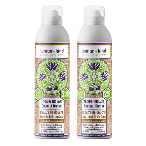 Human+Kind Shower Mousse Body Wash 2-Pack