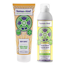 Human+Kind Shower Mousse and Body Wash Tube Kit