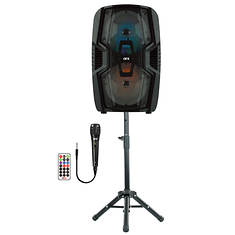 """QFX 2x6.5"""" Speaker with Stand & Microphone"""
