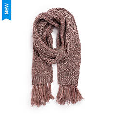 MUK LUKS Women's Traditional Cable Scarf