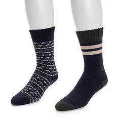 MUK LUKS Men's 2 Pair Pack Wool Socks
