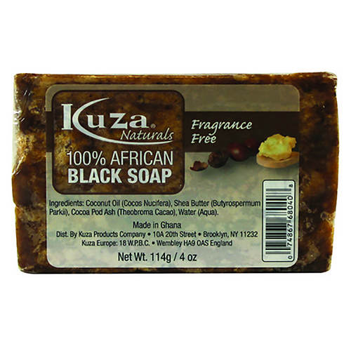Kuza Black Soap Fragrance Free