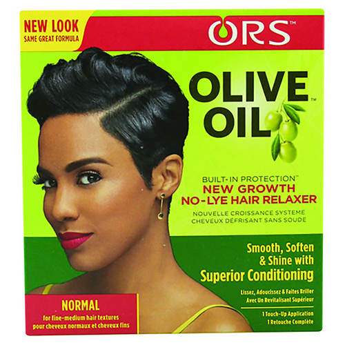 ORS Olive Oil Built-In Protection New Growth No-Lye Hair Relaxer Kit