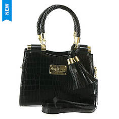 Bebe Natalie Micro Croco Shopper Crossbody