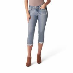 Silver Jeans Women's Suki Mid Rise Capri