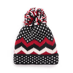 MUK LUKS Women's Chevron Pom Hat