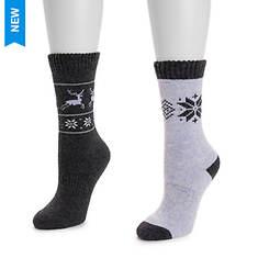 MUK LUKS Women's 2-Pack Wool Boot Socks