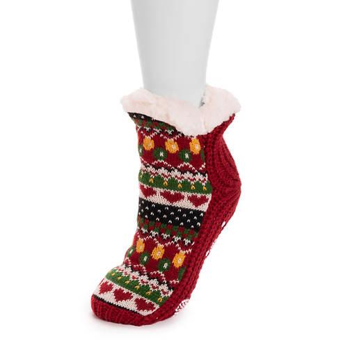 MUK LUKS Women's Holiday Cabin Socks