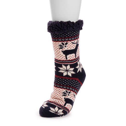 MUK LUKS Women's 1-Pair Cabin Socks