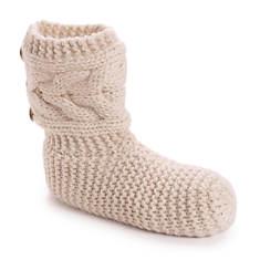 MUK LUKS Women's Slouchy Slipper Socks