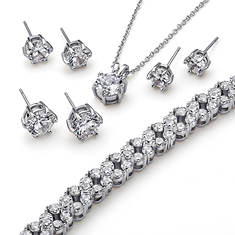 CZ Collection-Bracelet-Necklace-Earrings