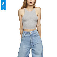 Free People Women's High Neck Ribbed Crop