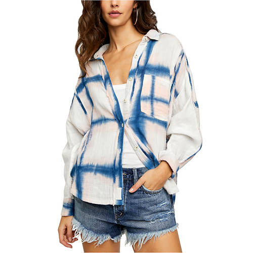 Free People Women's WTF Washed Away Plaid