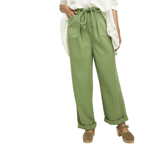 Free People Women's Lights Down Rolled Straight Leg Pant