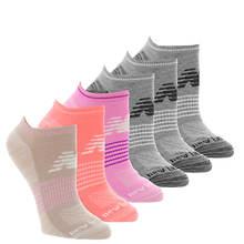 New Balance Women's Low Cut Flat Knit Fashion 6 Pack