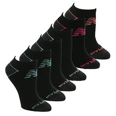 New Balance Women's Low Cut Cushion  Heel Toe Line 6 PK