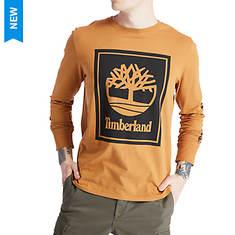 Timberland Men's LS Stack Logo Tee
