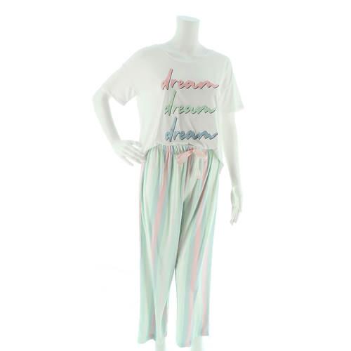 Be Yourself Lush T-Shirt & Capri Sleep Set