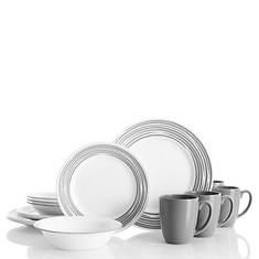 16pc Dinnerware Set-Brushed Silver
