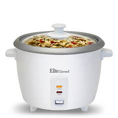 Elite Gourmet 6 C Rice Cooker w/Steam Tray