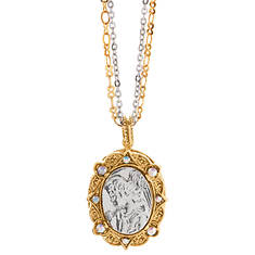14K Gold- & Silver-Tone Symbols of Faith Angel Locket