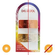 Del Sol Metallic Rectangle Color-Changing Hair Barrettes