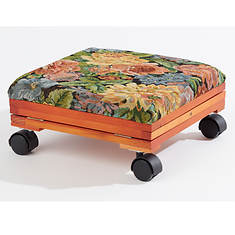 Adjustable Fold-Away Tapestry Foot Rest