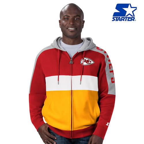 NFL Men's Starter Playoffs Colorblock Full-Zip Fleece Hoodie