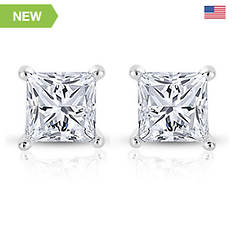 14K 0.06 ct. tw. Princess Diamond Stud Earrings
