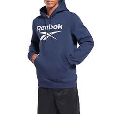 Reebok Men's Big Logo Fleece Pullover Hoodie